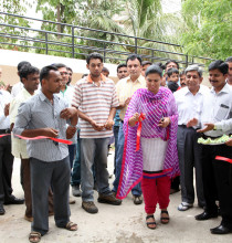 Ms. Vidhiben Chaudhary – DSP, West Kutch Inaugurating the newly constructed ws