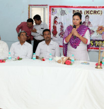 Ms. Vidhiben Chaudhary during her speech